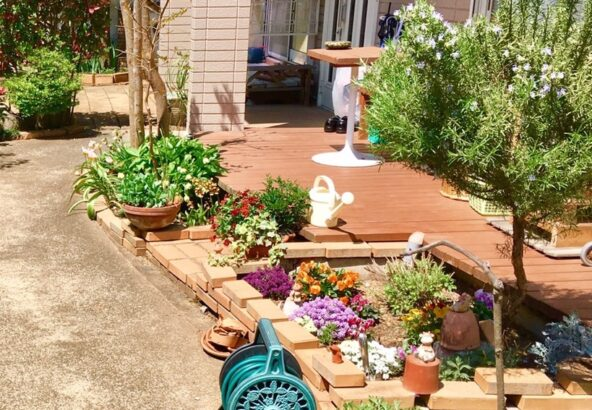 ウッドデッキのお庭