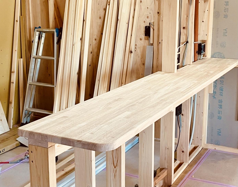 住みやすい平屋の家のカウンター造作
